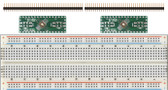 2 Pack of Schmartboard|ez .5mm Pitch, 32 Pin QFP/QFN to DIP Adapter Plus a Free Breadboard (204-0017-31)