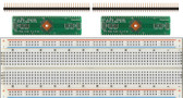 2 pack of Schmartboard|ez .5mm Pitch, 64 Pin QFP/QFN to DIP Adapter Plus a Free Breadboard (204-0018-31)