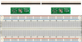 2 Pack of Schmartboard|ez 0.5mm Pitch, 40 Pin QFP/QFN to DIP adapter Plus a Free Breadboard (204-0044-31)