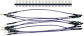 "Schmartboard Qty. 10 5"" Purple Male to Female Jumper Wires and 40 Headers (920-0022-01)"