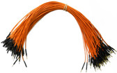 "Schmartboard Qty. 100 Orange 12"" Male to Female Jumper Wires (920-0094-01)"
