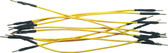 "Schmartboard Qty. 10 5"" Yellow Male Jumper Wires (920-0097-01)"