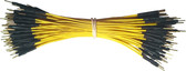 "Schmartboard Qty. 100 5"" Yellow Male Jumper Wires (920-0098-01)"
