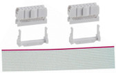 "Qty. 2 Female 2 x 5 IDC Sockets (920-0113-01) with 12"" Long 26 wide Ribbon Cable (920-0119-01)"