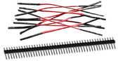 "Schmartboard Qty. 10 3"" Red Female Jumper Wires and 40 Headers (920-0005-01)"