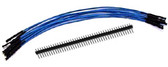 "Schmartboard Qty. 10 7"" Blue Female Jumper Wires and 40 Headers (920-0007-01)"