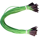 "Schmartboard Qty. 100 12"" Green Female Jumper Wires (920-0019-01)"