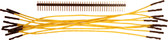 "Schmartboard Qty. 10 7"" Yellow Female Jumper Wires and 40 Headers (920-0107-01)"