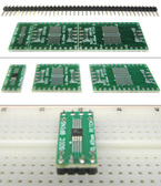 Clearance Schmartboard|ez 0.65mm Pitch SOIC to DIP adapter BOARD ONLY, NO HEADERS (204-0006-01c)