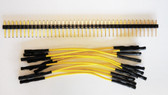 "Qty 10 3"" Female Yellow Jumper Wires and 40 Headers (920-0161-01)"