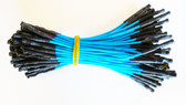 "Qty 100 3"" Female Blue Jumper Wires (920-0168-01)"