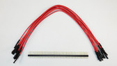 "Schmartboard Qty 10 Red 9"" Female Jumpers and 40 Headers (920-0186-01)"