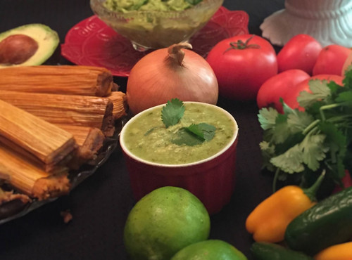 Premium Green Salsa with Avocado
