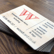 Printed 3mm thick Bamboo Business Cards