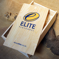Replacement Lid Printing on branded wooden wine gift boxes