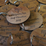 Engraved Alderwood keyrobs - ideal for promotional purposes