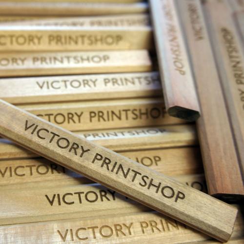 Engraved carpenters pencils - ideal promottion items