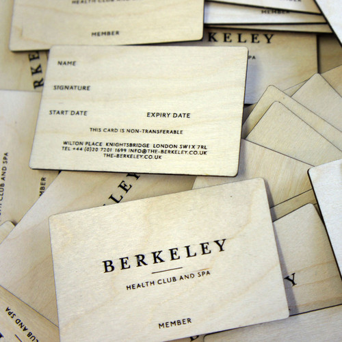 Wooden Engraved Business Cards - birch ply business cards with double sided engraving