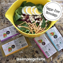 Customer repost of our 3 sugar-free dressings and our 1 very low sugar dressing packets. Great on salads or for marinating!
