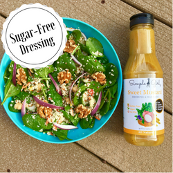 Simple Girl's  Organic, Sugar-free dressing, Sweet Mustard, is also all-natural, and oil-free!
