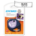 "Dymo 16952 1/2"" (12 mm) x 13' Black on Clear Polyester LetraTAG Tape"