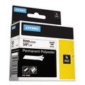 Dymo 18482 RhinoPRO 3/8 White Permanent Poly Lables