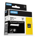 Dymo 18484 RhinoPRO 3/4 White Permanent Poly Lables