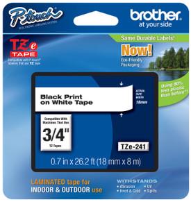 TZe241 Black On White Ptouch Tape