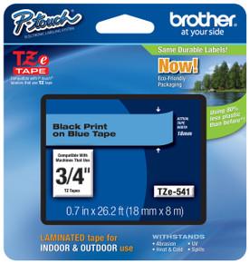 TZe541 Black On Blue Ptouch Tape