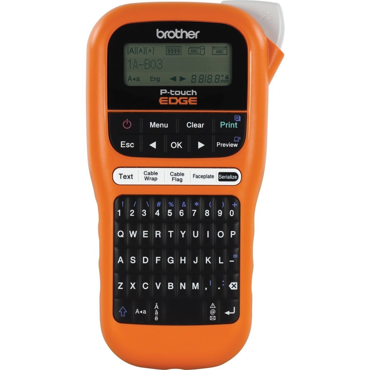 Brother P Touch 110 Handheld Label Maker: Brother PT-E110 Handheld Industrial P-touch Edge Label Maker