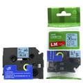LME561 black lettering on blue tape