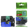 Compatible Black On Green P-touch Tape 36mm