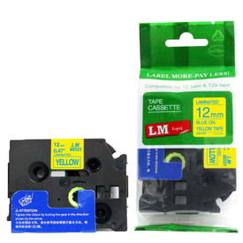 TZe633 blue and yellow replacement tape