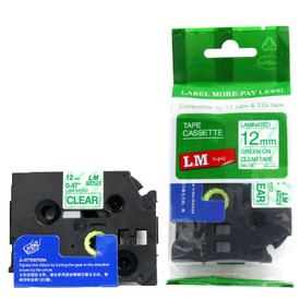 TZe136 green and clear replacement tape