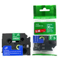 LME565 white lettering on green label tape