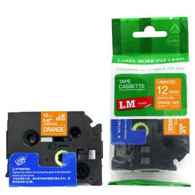 TZe635 white and orange replacement tape