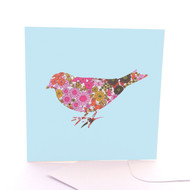 Fabric Bird Blue