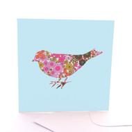 Fabric Bird Blue