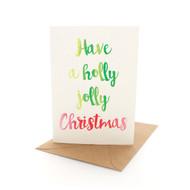 Xmas Letters Holly Jolly