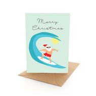 Aussie Xmas Surfing Santa