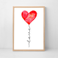 Love Balloon Print