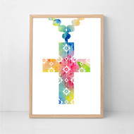 Crucifix Colour Print