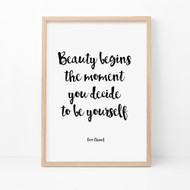 Beauty Begins Print