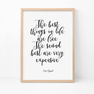 The Best Things Print