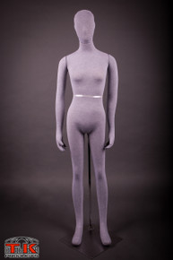 Female Mannequin, Flexible Posable Full-size In Grey