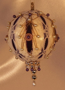 "Handmade Christmas Ornaments ""Very Victorian"" (Purple)"