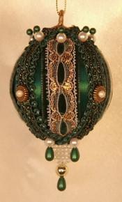 "Handmade Christmas Ornaments ""Rowena"" (Hunter Green)"