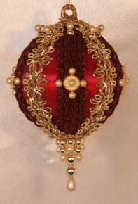 "Handmade Christmas Ornaments ""Gloria"" (Burgundy)"