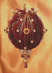 "Handmade Christmas Ornaments ""Burgundy Wine"""