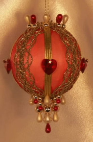 "Swarovski Crystal Birthstone Orna Mentz - ""July - Ruby"""